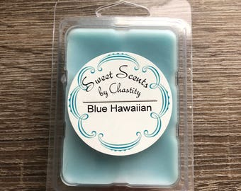 Blue Hawaiian Scented Wax bar/tart melt. Homemade!
