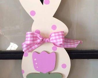 """Pinky,  15"""" bunny hanger"""
