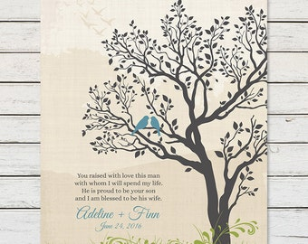 GROOMS PARENTS GIFT from Bride, Parent Thank You Gift, Gift for Grooms Mother, Mother In Law Gift from Bride, Gift for In Laws, Wedding Tree
