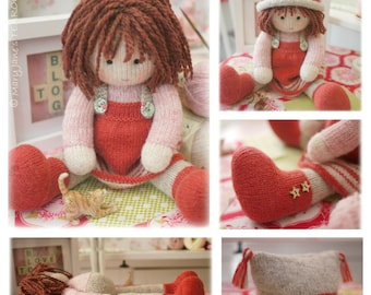 Chrystal: Toy/ Doll Knitting Pattern/ Knitted Doll/ Plus FREE Pdf for  'A Simply Sewn Pinafore'/ INSTANT Download