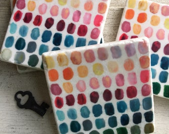 Palette stone drink coasters - collaboration with Stephanie Corfee