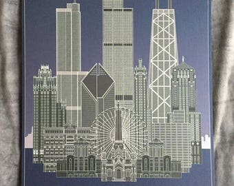 Decades Chicago Architecture Poster
