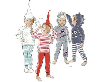 Simplicity Sewing Pattern 8526 Toddler and Child's Knit Tops, Pants and Hat