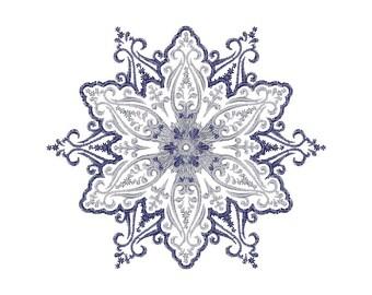 Schneeflocken-Stickerei-Design - Muster Frost Stickerei - Maschine Stickerei Design - sofortiger Download