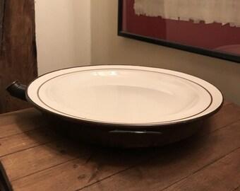 Vintage Copper Ceramic Plate Warmer,Plate Warmer,Copper Plate Warmer,Ceramic Plate Warmer,Single Plate Warmer,Vintage Copper Warmer & Plate