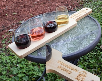 Personalized Wine Flight, Wine Tasting Set with 4 Glasses, Unique Wine Gifts, Gifts for Girlfriend, Funny Wine Gifts, Bridesmaid Wine Gifts