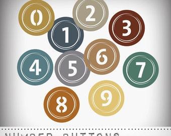 Hero Arts Number Buttons DK012 Instant Download