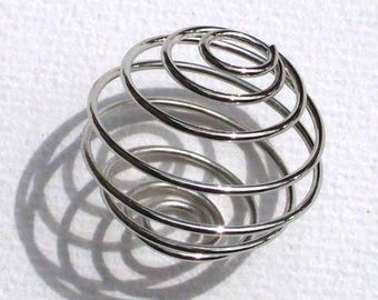 1 20mm MR80 silver spiral bead cage