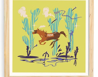 Desert Horse - Original Digital Print.