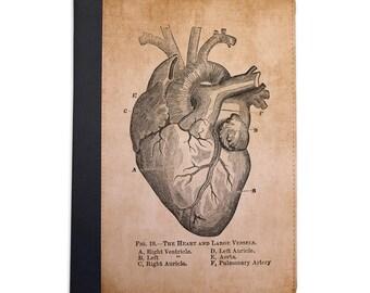 Vintage Medical Illustration Heart Folio Case For The iPad Mini 1,2,3 and 4