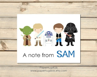 Space Stationery, Space Wars Note Cards, Personalized Note Cards, Kids Thank You Cards, Star Wars, Kids Note Cards/ Set of 10