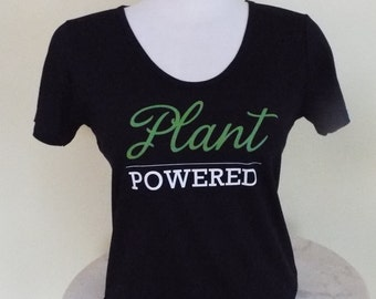Plant Powered - Deep Scoop - Bamboo T-shirt for Women