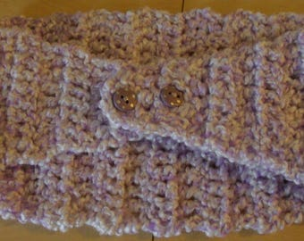 Pale Lavender Ear Warmer Head Wrap