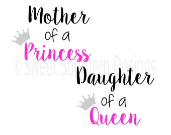 Princess Daughter Of A Heavenly King Vinyl Wall Decal 23 X