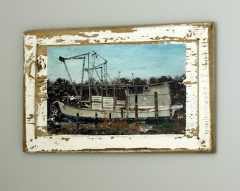 Rustic Wall Hanging with Old Boat