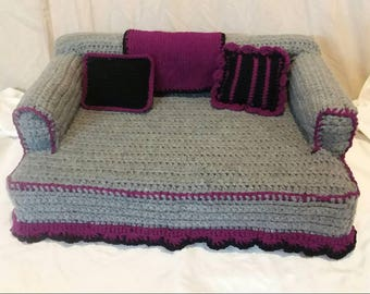 Crochet Pet Sofa Bed