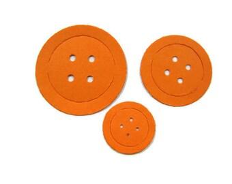 Round Paper Button  Die Cuts set of 30