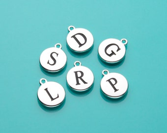 Initial Charm, Initial to add to Silver Keychain