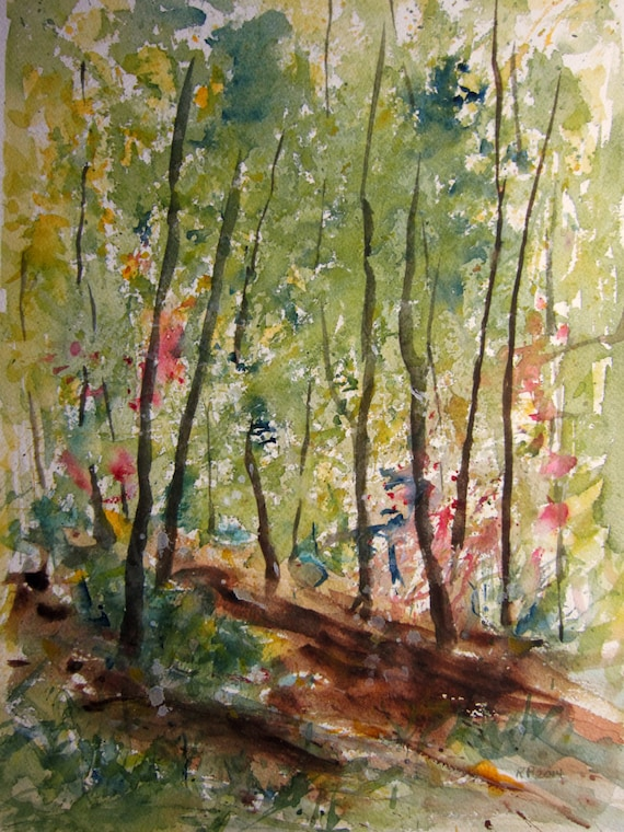 Forest Landscape Painting Easy