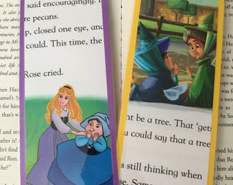 Disney Sleeping Beauty Princess Aurora and the three fairies bookmarks