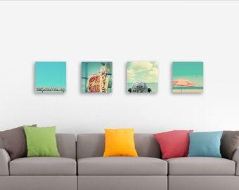 Set of 4 prints, 12x12 or 10x10, choose your wall art, set of art prints, custom home decor, modern wall art, retro modern, mid century
