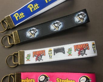 Pittsburgh Themed Keychains, key fobs, steelers keychain, penguins keychain