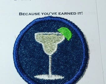 Margarita with Lime Iron on Patch/Merit Badge