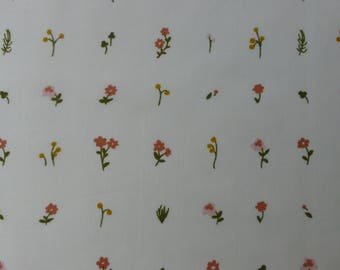 1/2 Yard Organic Cotton Fabric - Birch Fabrics Little - Morning Bloom Poplin