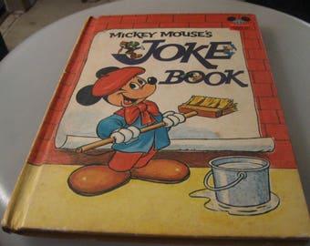 mickey mouse joke book 1973 hard cover