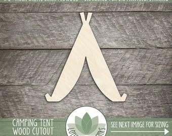 Camping Tent Wood Cut Shape, DIY Laser Cut Wood Shapes, Cowboy Tent Wood Shape Cut Out, DIY Home Decor Wood Shapes, Nursery Wall Art