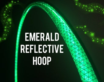 """Emerald Reflective HDPE or Polypro 5/8"""" 3/4"""" Dance & Exercise Hula Hoop - NOT an LED hoop green"""