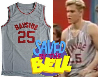 Zack Morris Bayside Tigers High School Basketball Jersey AC Slater Screech Kapowski The Max 90s TV Show
