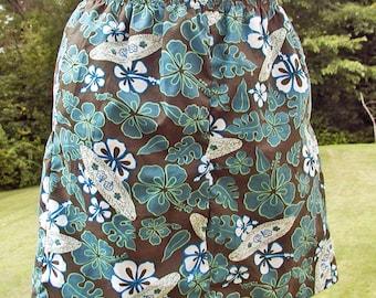 Ladies' Reversible Skirt Repurposed Size S / M