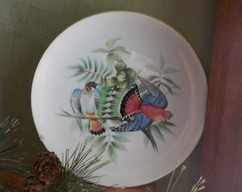 Clearance.......RARE...Vintage  Candsrea, Bird   Plate , Hand Painted, Made In Japan