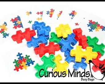 Montessori - Puzzle Block Pattern Busy Bag