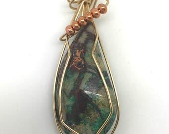 Morenci Copper Freeform Pendant  pendants wire wrapped pendants jewelry handmade