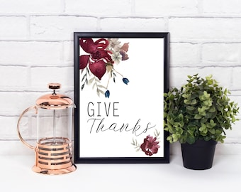 Give Thanks Autumn Digital Print