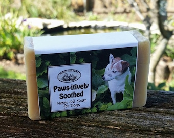 Pawsitively Soothed Neem Oil Soap for Pets