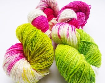 Fine Merino Socks hand dyed yarn hand painted sock yarn : Spring Smelling
