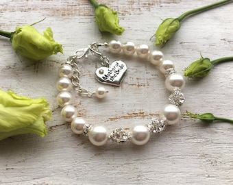 Mother of the bride gift from daughter bracelet, gift from groom. Mother of the groom gift from son. Mother in Law gift. Mom on wedding day.