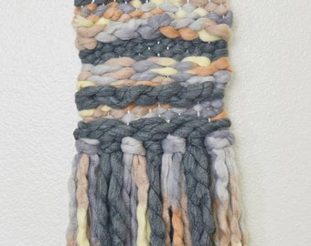 Woven Wall Hanging, Wall Weaving Colorful Wall Art, Woven Tapestry Lap Loom Weaving, Textile Wall Hanging
