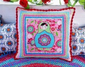 Deep crocheted border Mat...