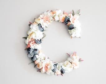 Floral letter wedding decor, table sign, flower letter. Monogram letter personalised gift, wedding monogram, initial letter, wedding sign
