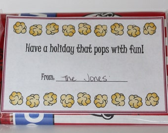 "Have a Holiday that ""Pops"" Christmas Neighbor Gift Tag"