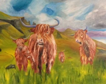 highland cattle on the Isle of Skye