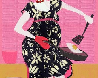 Hot Mama - Giclee Print- Ceci Bowman Designs