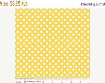 ON SALE Riley Blake Fabric - 1/2 Metre Small Dots in Yellow
