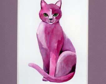 Velvet Violet, original watercolor