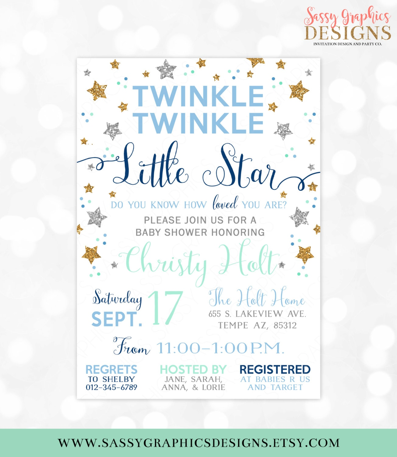It's just a photo of Bewitching Free Printable Twinkle Twinkle Little Star Baby Shower Invitations