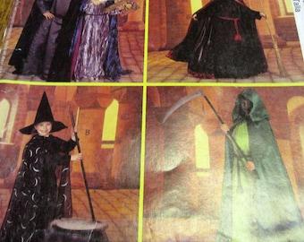 Childs Halloween Costume motif, McCalls P205, capuche, Capes, chapeau pointu, taille 7-12, sorcière, Harry Potter, magicien, bricolage, Dress Up, Cosplay, non découpé